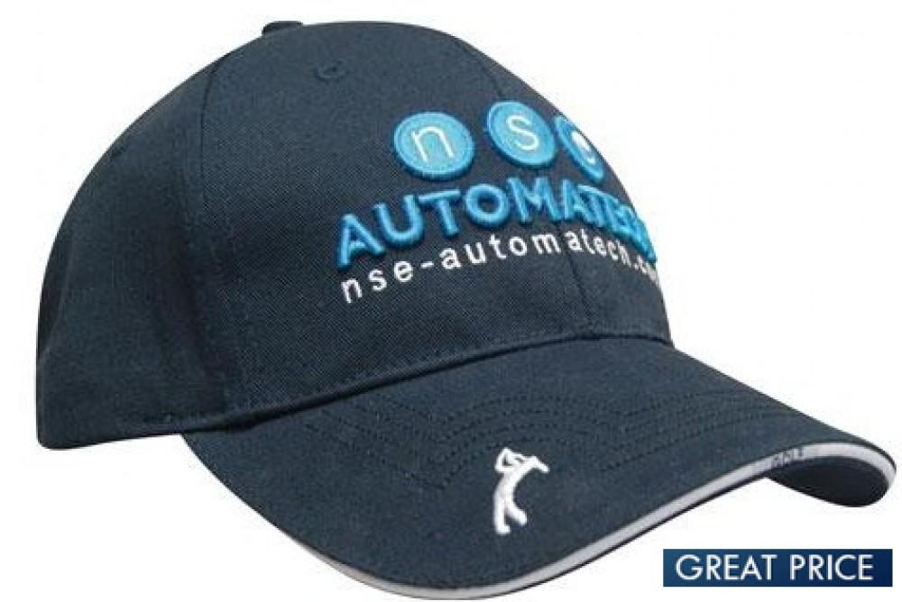 Branded Twill Golf Caps Fast Turnaround Rapid Delivery Australia f48e5d680b8