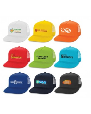Bondi Logo Branded Flat Mesh Caps