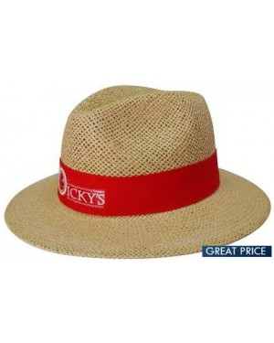 Personalised Brown Madrid Style Straw Hat