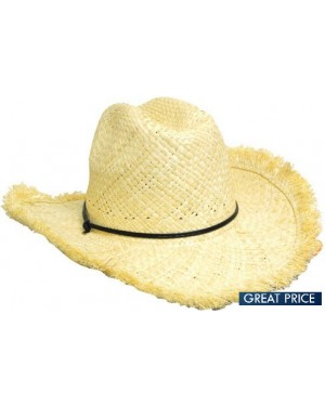 Cowboy Hat with Frayed Edge