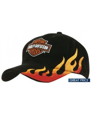Flame Embroidered Cotton Cap