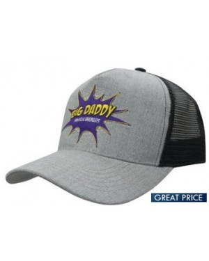 Grey Twill Mesh Caps