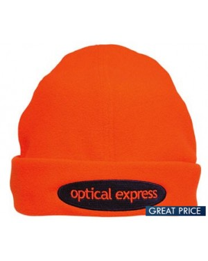 Personalised High Vis Fleecy Beanie