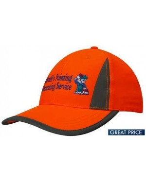 Safety High Vis Cap Reflective Panels