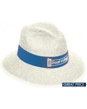 White Madrid Style Straw Hat