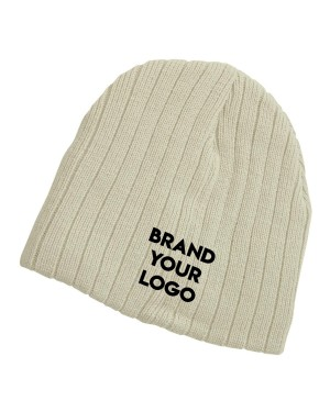 Knit Embroidered Beanies