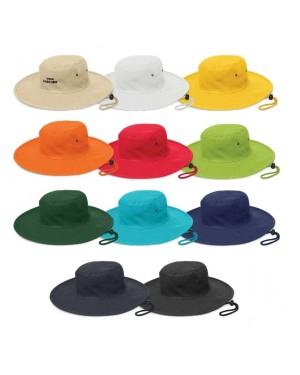 Logo Emblazoned Wide Brim Hats